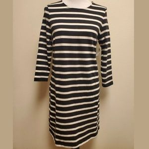Old Navy Black Striped Dress Small NWT